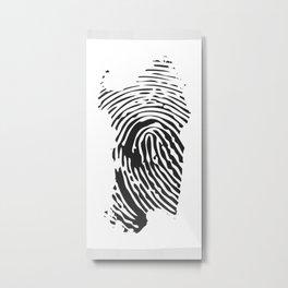 Sardinian fingerprint Metal Print