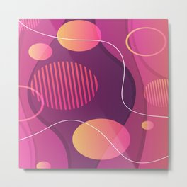 Red Orange And Purple Abstract Design Metal Print