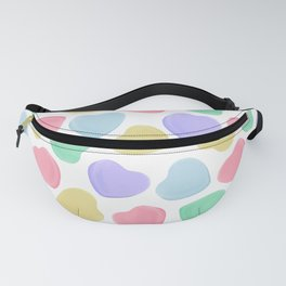 Candy Conversation Hearts Pattern Fanny Pack