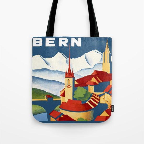 Vintage Bern Switzerland Travel Tote Bag