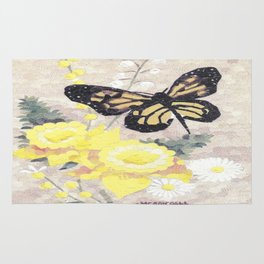 Butterfly Visit Rug