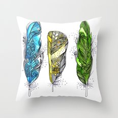 Dream Feathers Throw Pillow
