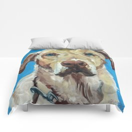 Golden Labrador Dog Portrait Comforters
