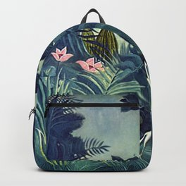 The Equatorial Jungle with Lions by Henry Rousseau Backpack