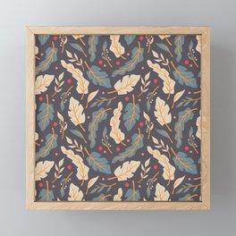 Vintage Floral Pattern 006 Framed Mini Art Print