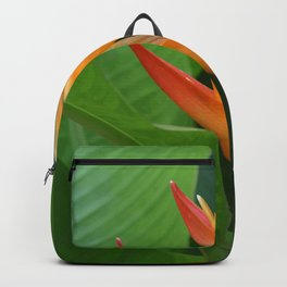 Big Heliconia Flower green Leaves #society6 #leaves Backpack