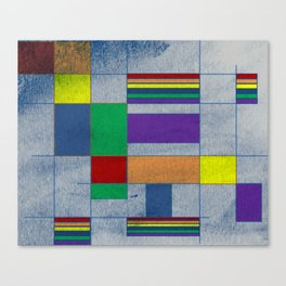 MidMod Rainbow Pride 1.0 Canvas Print
