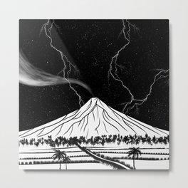 Mayon Volcano Philippines Metal Print