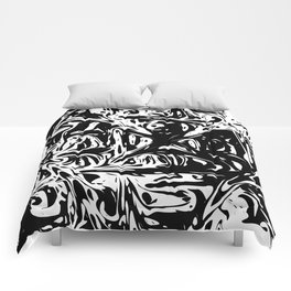 Black And White Dynamic Abstraction Comforters