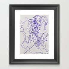 Purple Mirror Gypsy Framed Art Print