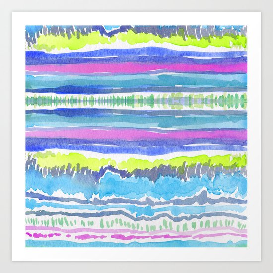 Lushly Streams Art Print