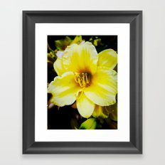 Slow Wilting Beauty Framed Art Print