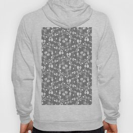 Gray Floral Pattern Hoody