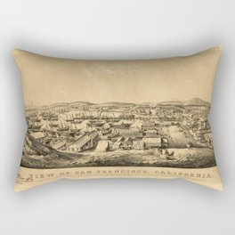 View of San Francisco, California: taken from Telegraph Hill, April 1850 Rectangular Pillow