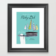 Moby Dick Book Cover Framed Art Print