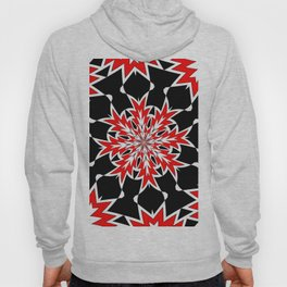 Bizarre Red Black and White Pattern 2 Hoody