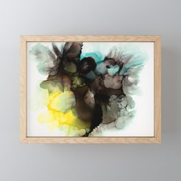 Thoughts on Paper Alcohol Ink Painting Print Framed Mini Art Print