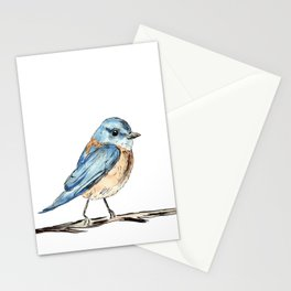 Bluebirds watercolour and ink Stationery Cards