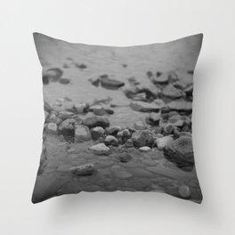 the shallows // river rocks Throw Pillow