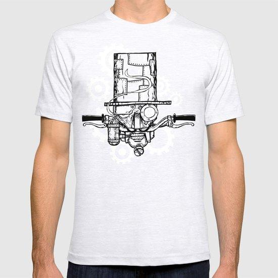 Robot Handlebar Mustache  T-shirt