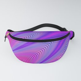 3-D Fractilicious Pink and Purple Super Hero Design Fanny Pack