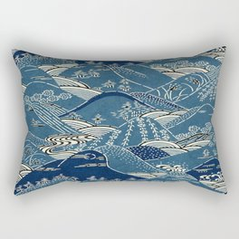Blue Mountains Rectangular Pillow