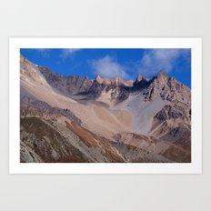Scenery Yak Kharka to Thorung Phedi Art Print
