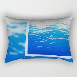 Neon Ocean Abstract Snapshot Rectangular Pillow