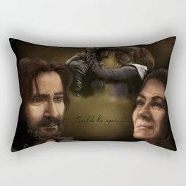 """I can't do this again..."" Rectangular Pillow"