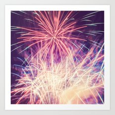 Fireworks - Evening Summer Festival Photography Art Print