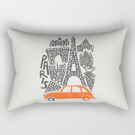 Paris Cityscape Rectangular Pillow