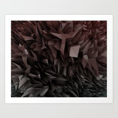 3d polygons displacement Art Print