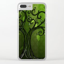 LEAVE - Summer Green Clear iPhone Case