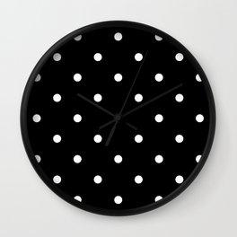 Dots BlackandWhite Wall Clock
