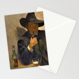 Self-portrait With Broad-brimmed Hat - Diego Rivera Stationery Cards
