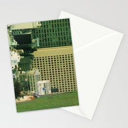 city unreal Stationery Cards