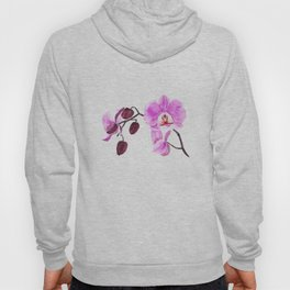 pink orchid flower watercolor painting Hoody
