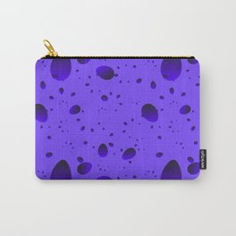 Large blueberry drops and petals on a light background in nacre. Carry-All Pouch