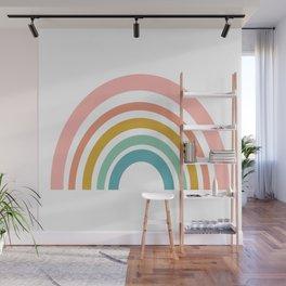 Simple Happy Rainbow Art Wall Mural