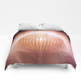 Sparkling disco ball Comforters