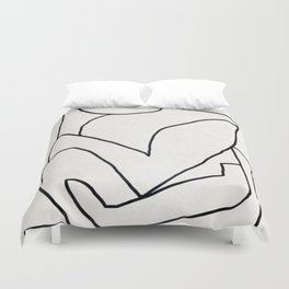 Abstract line art 2 Duvet Cover