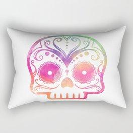 "Custom Design Modern Sugar Skull (""Calavera"") Rectangular Pillow"