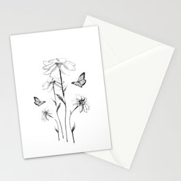 Flowers and butterflies 2 Stationery Cards