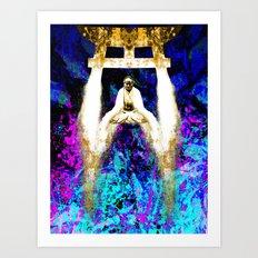 gold water on serenity Art Print