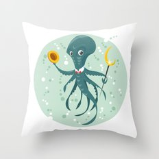 Mr Octopus Throw Pillow