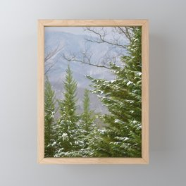 Snowy Day in the Smoky Mountains Framed Mini Art Print