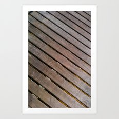 Wood Lines on the ground Art Print
