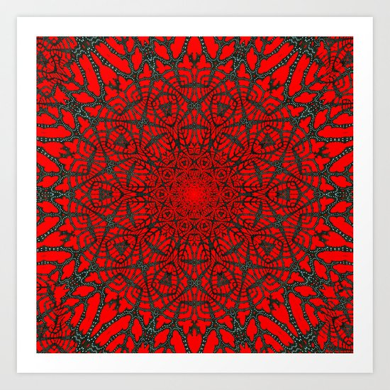 Crimson Web Art Print