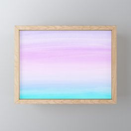 Touching Unicorn Girls Watercolor Abstract #1 #painting #decor #art #society6 Framed Mini Art Print