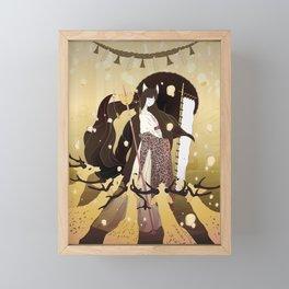 Sunrise at Nara Framed Mini Art Print